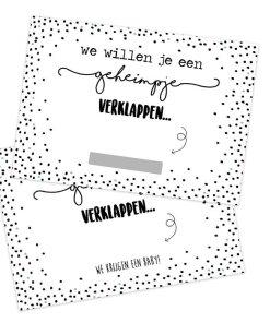 Kraskaart - Wij krijgen een baby - Zwangerschap _ zwangerschaps aankondiging - Zwanger - Zwangerschap aankondiging - Jullie worden opa en oma - Wij zijn zwanger