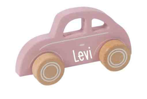 Little Dutch - Adventure - Roze auto - met naam- Little dutch - met naam - Little dutch - Little dutch - Gepersonaliseerd - Kraam cadeau