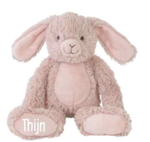 Rabbit Rosi - Met naam - Happy Horse - Gepersonaliseerd kraamcadeau - Geboorte cadeau met naam - Naam cadeau - Gepersonaliseerd