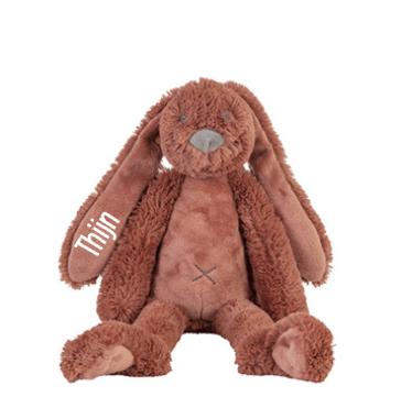 Tiny Rusty Rabbit Richie - Met naam - Happy Horse - Gepersonaliseerd kraamcadeau - Geboorte cadeau met naam - Naam cadeau - Gepersonaliseerd