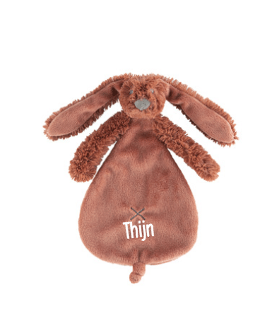 Rusty Rabbit Richie Tuttle - Met naam - Happy Horse - Gepersonaliseerd kraamcadeau - Geboorte cadeau met naam - Naam cadeau