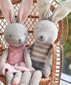 Jollein – Knuffel Bunny Joey en Nola - Knuffel - pop - Konijn - Speelgoed - Kraam cadeau - Geboorte cadeau