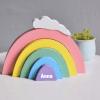 Stapel regenboog - Gepersonaliseerd - Naam cadeau - Kraam cadeau - Geboorte cadeau - Gepersonaliseerd speelgoed