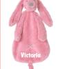 Happy Horse - Deep Pink Rabbit Richie Tuttle - Gepersonaliseerd kraamcadeau - Geboorte cadeau met naam - Naam cadeau