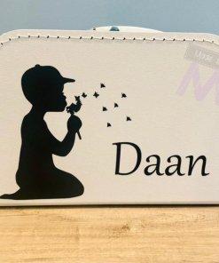 "Koffertje ""Jongen"" - Kraamcadeau - Naam cadeau - Geboorte cadeau met naam"