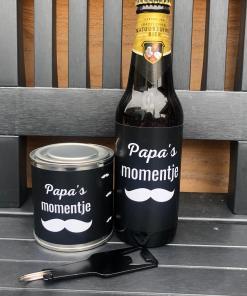 Cadeaubox - Papa's momentje - Vaderdag cadeau - Cadeau voor papa - Papa to be - Cadeaubox papa - Geperosnaliseerd cadeau