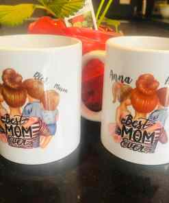 Koffie thee mok - Best mom ever - Cadeau voor mama - Mama cadeau - Moederdag cadeau - Koffiemok - Gepersonaliseerd - Vaderdag cadeau