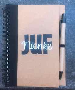 Notitieboek - Juf - Gepersonaliseerd- Schoolspullen - Gepersonaliseerd cadeau - Naam cadeau - Naar school - Notitieboek