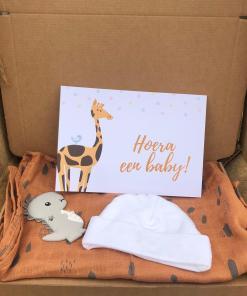 Cadeau set - Brievenbus cadeau pakket - Hoera een baby - Jollein Super leuk cadeau setje om te geven aan de leukste opa, gevuld met tas voor iemand die zwanger is of net bevallen is Gevuld met Jollein hydrofiel luier - Bijtring Dino - Baby mutsje en leuke kaart Is zo te versturen door de brievenbus Let op: Dit kan niet in gepakt worden, het is al een heel leuk cadeautje op zich.. Als je het in laat pakken past het niet meer door de brievenbus en moet je het als pakket laten verzenden.