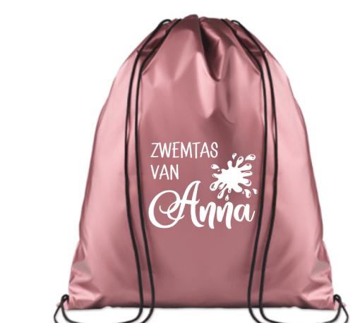 KINDERZWEMTAS  Gepersonaliseerd met naam - Zwem tas . Ook leuk te gebruiken voor zwemles of schooltasje. Je shopt ze in verschillende stijlen en kleuren en allemaal gepersonaliseerd. Design: Bellakids Afmetingen : 40 x 36 cm.