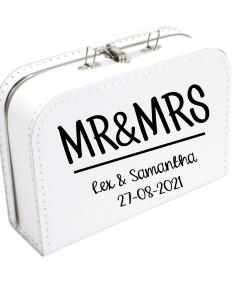 Koffertje Mr&Mrs - Gepersonaliseerd met namen