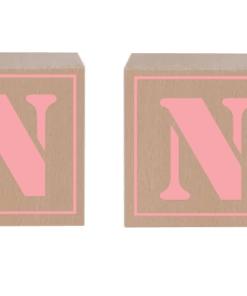 Naam blokken - Baby Roze