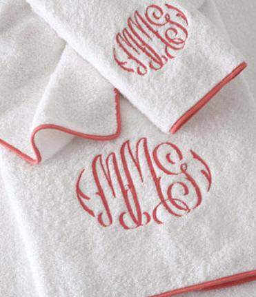 luxury monogrammed bath towels