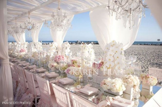 Custom Designed Head Table Decorations Including Luxurious Fabric D Lighting Crystals And Fl Accents