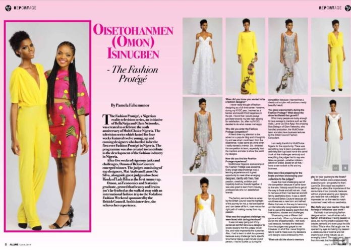 Fashion Protege Winner Omon for Allure Magazine - BellaNaija - July2014002