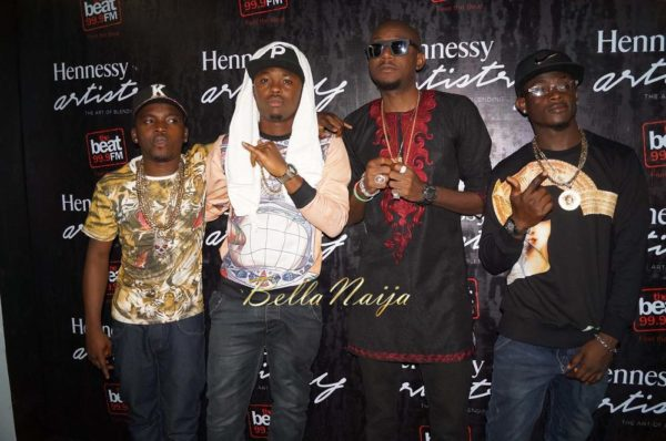 "12.BellaNaija Hennessy Artistry Lagos Nigeria 2014 600x398 1st Time Ever! Wizkid & 2Face perform ""Dance Go"" + Lil Kesh does ""Shoki"" 
