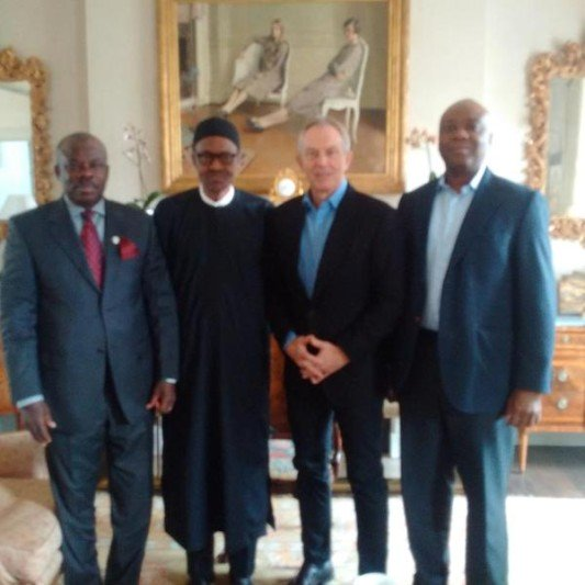 Buhari with Tony Blair