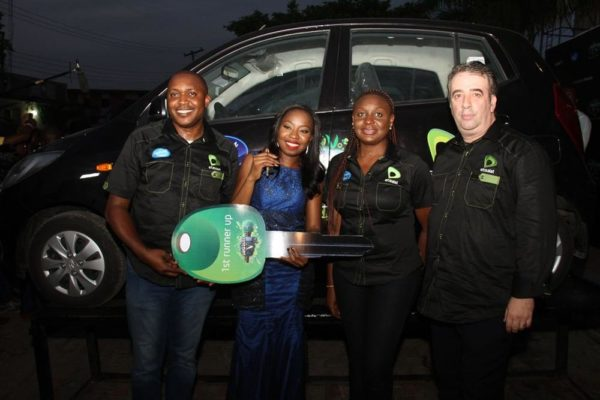 [L-R]Elvis Daniel (Head, Youth Segment, Etisalat Nigeria), Dolu (1st Runner Up, Nigerian Idol Season V), Modupe Thani (Head, Brands & Experience, Etisalat Nigeria) & Francesco Angelone (Chief Marketing Officer, Etisalat Nigeria)