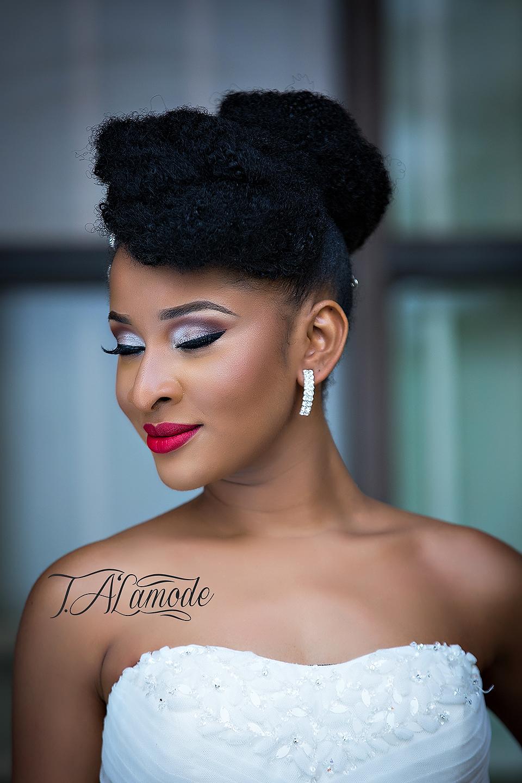 Striking Natural Hair Looks for the 2015 Bride TAlamode  BellaNaija