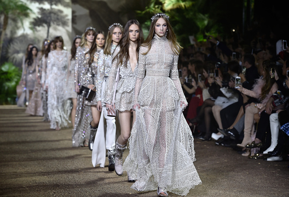 PARIS, FRANCE - JANUARY 27: Models walk the runway during the Elie Saab Spring Summer 2016 show as part of Paris Fashion Week on January 27, 2016 in Paris, France. (Photo by Pascal Le Segretain/Getty Images)