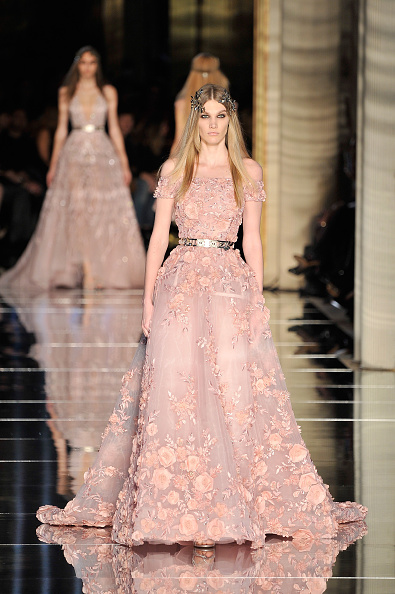 A model walks the runway during the Zuhair Murad Spring Summer 2016 show as part of Paris Fashion Week on January 27, 2016 in Paris, France.