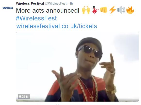 1-7 Wizkid Announced as a Headline Act for London's 2016 Wireless Festival