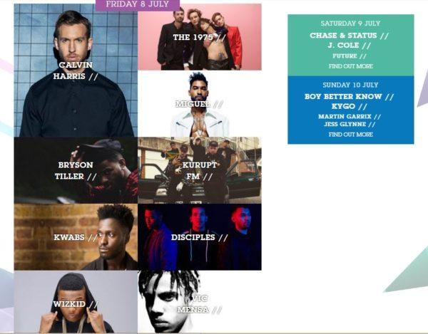 Artist Lineup