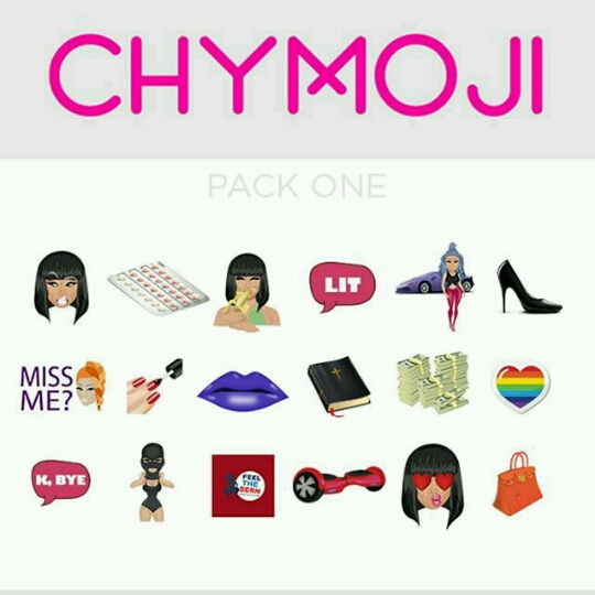 "Chymoji Blac Chyna unveils her ""Chymojis"" with unborn baby & Rob"
