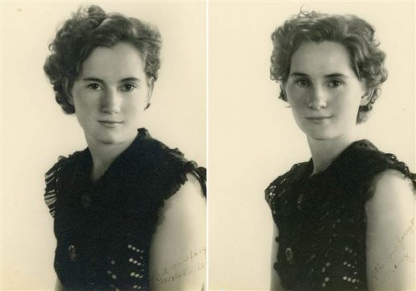 Mae Belle, left, and Mary Belle, right