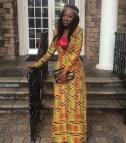 African Print Prom Dress