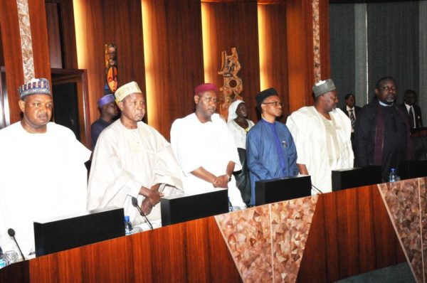 PIC.11. A CROSS-SECTION OF STATE GOVERNORS DURING THE COUNCIL OF STATE MEETING AT THE PRESIDENTIAL VILLA IN ABUJA ON WEDNESDAY (7/9/16). 6816/7/9/2016/ICE/BJO/NAN