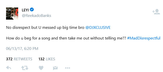 BellaNaija - Reekado Banks accuses DJ Xclusive of sidelining Him on a Song