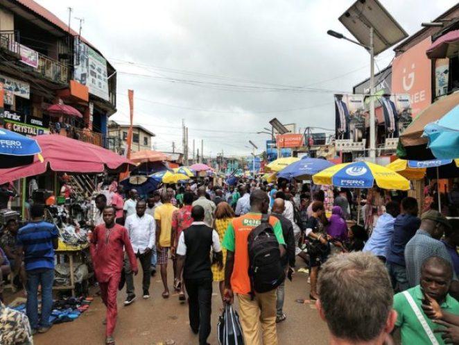 Google CEO in Nigeria, shares photo of Computer Village - BellaNaija