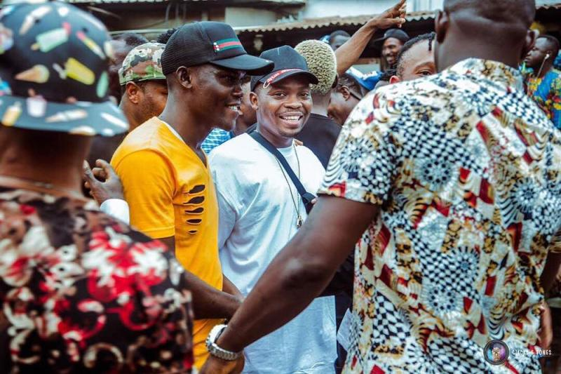 "Olamide Shoots Video For New Single ""Wo"" In Bariga 