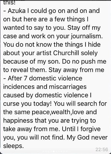After 7 domestic violence incidences and miscarriages, I curse you today - Tonto Dike to Azuka Ogujiuba - BellaNaija