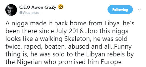 "Twitter User reveals Nigerians involved in Libya ""Slave Markets"" - BellaNaija"