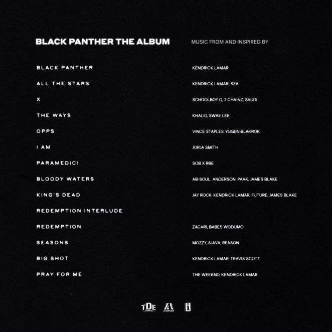 "Kendrick Lamar unveils ""Black Panther: The Album"" Cover & Tracklist"
