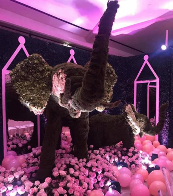 All Shades of Pink inside Khloe Kardashians Baby Shower