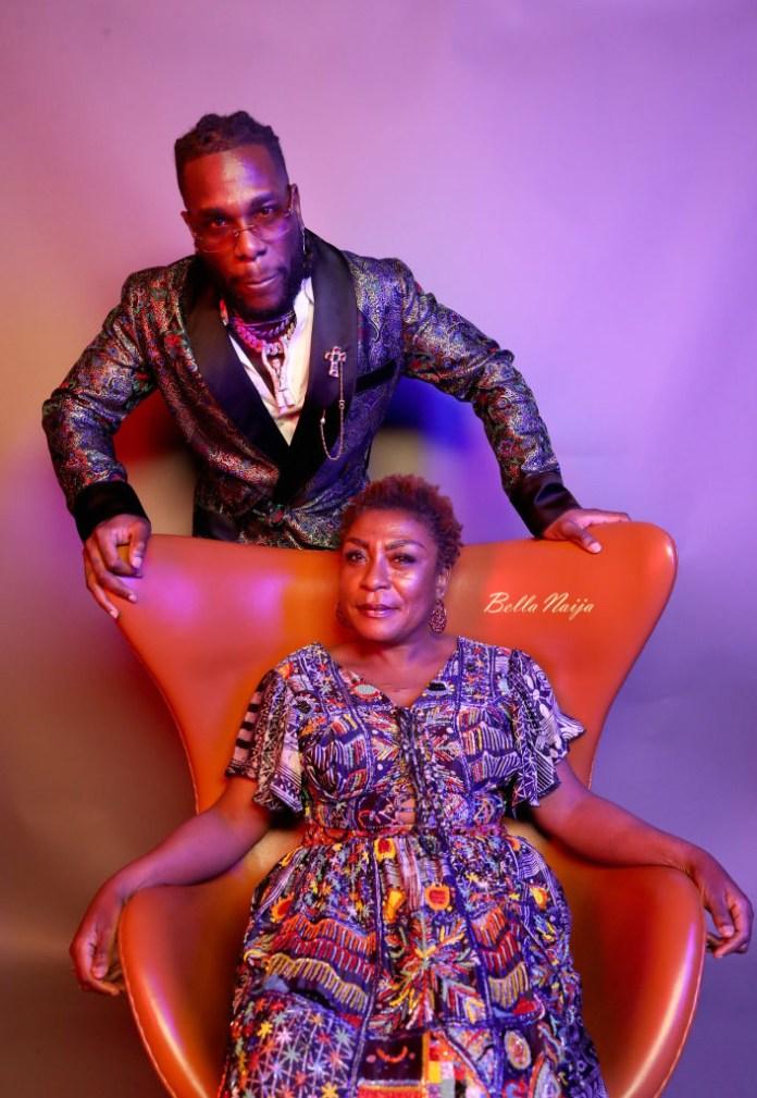 Burna Boy & Mum Bose Ogulu are Picture Perfect in these