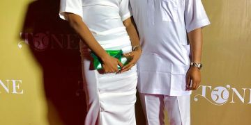 Naeto C & Nicole Chikwe Looked so Good in their All White Outfits