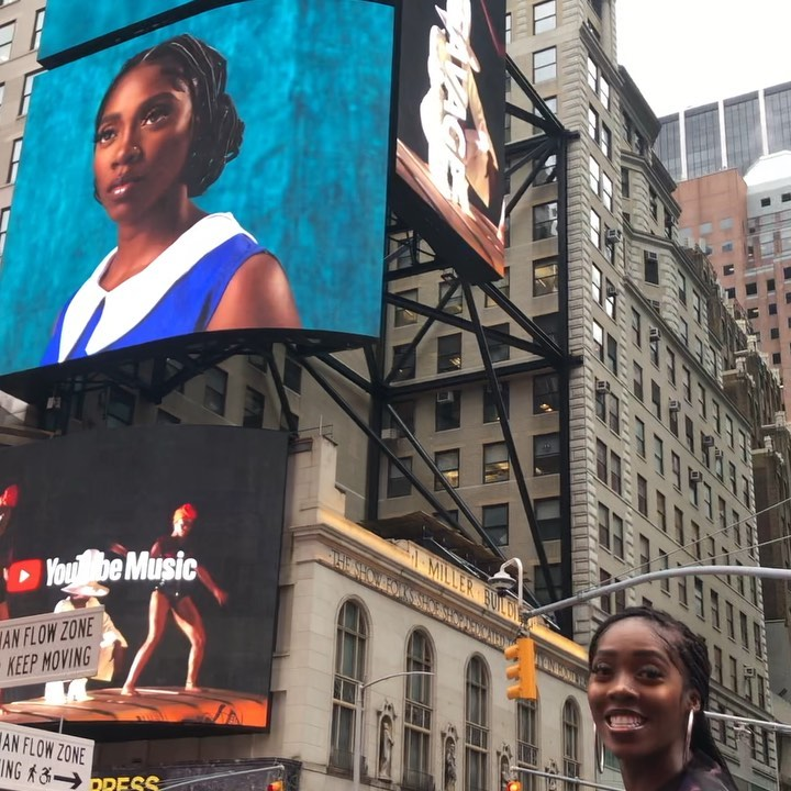 """Tiwa Savage's """"49-99"""" is Displayed at Times Square & We're Here for It!"""