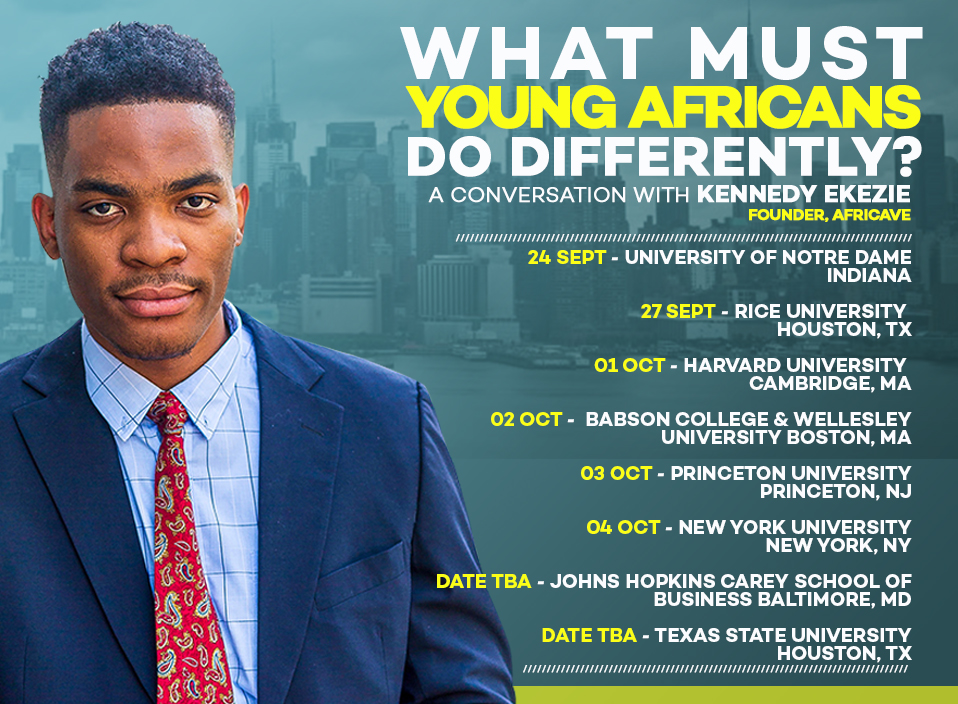 Africave CEO Kennedy Ekezie-Joseph Embarks On Global Speaking Tour to Meet Africans Committed to Changing their Generation