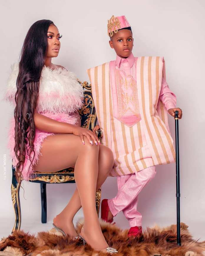 Angela Okorie & Son Chamberline Rock Matching Looks for his Birthday