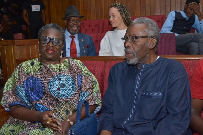 So Cute! Olu Jacobs & Joke Silva spotted on Date Night at the Finale of 'The Wives' Stage Play