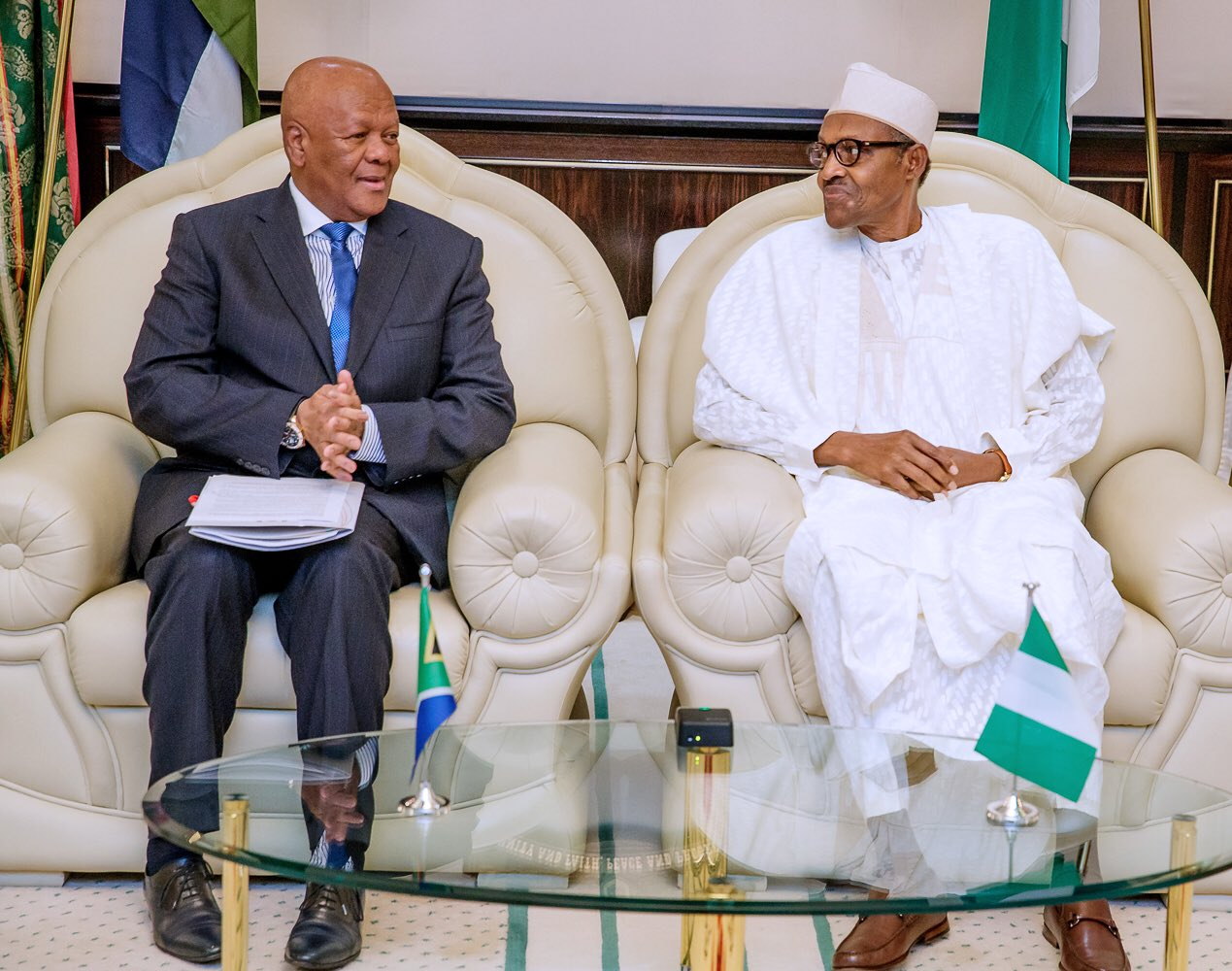 Xenophobia: President Buhari Receives South African Envoy In Abuja