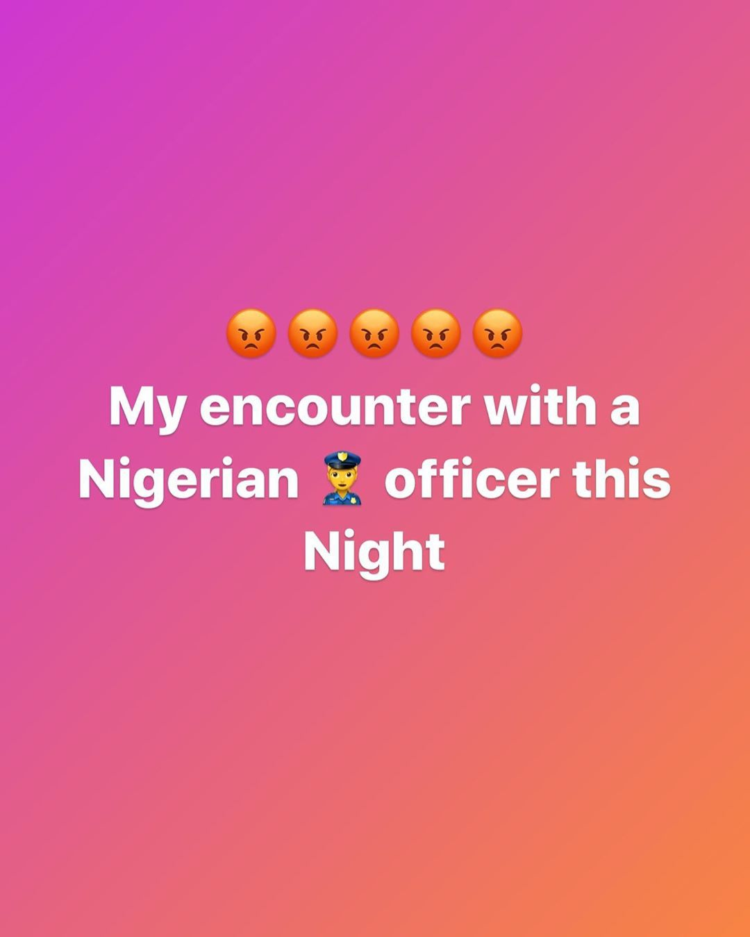 ID Cabasa Narrates Sad Experience with a Police Officer