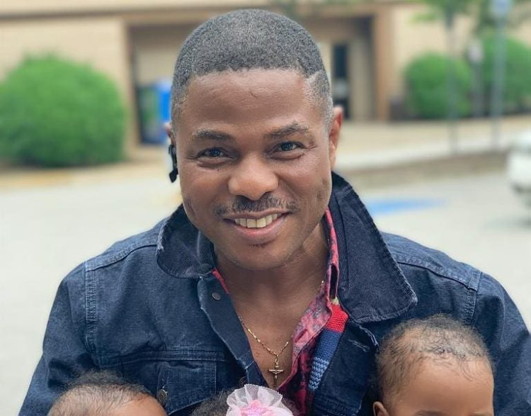 We Cant Stop Gushing over this First Photo of Yinka Ayefele & his Triple Blessings