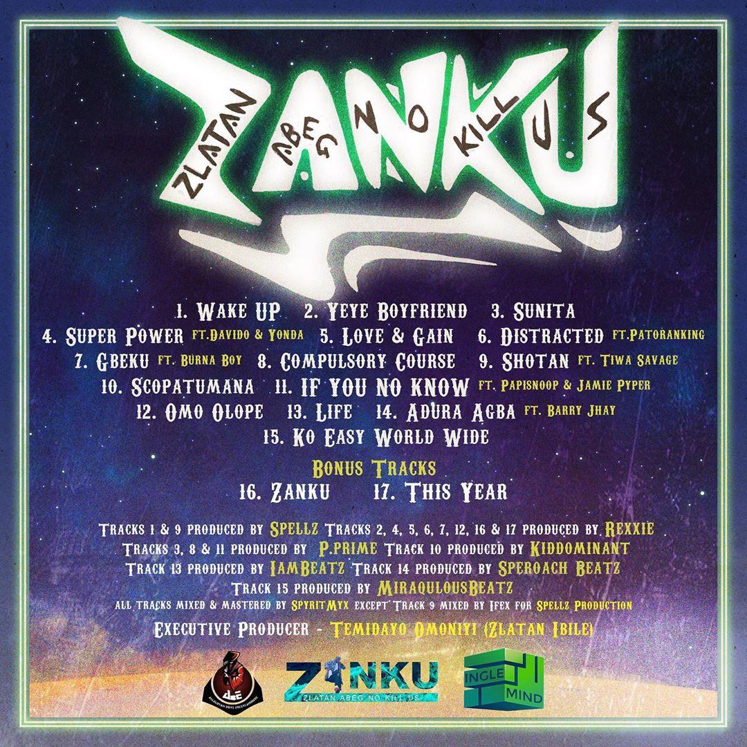 Listen to Zlatans New Album ZANKU Fully on BN