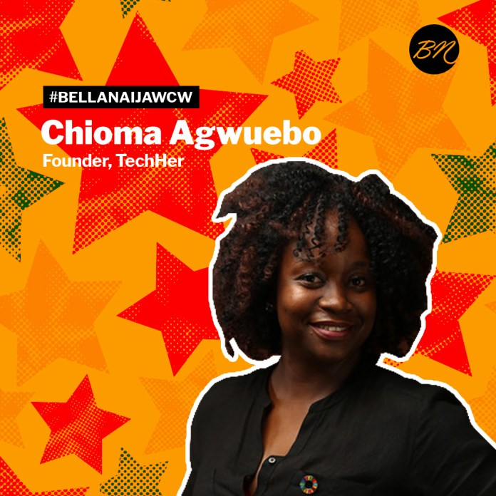 #BellaNaijaWCW Chioma Agwuebo of TechHer is Empowering & Advocating for Women with her Media & Tech Skills