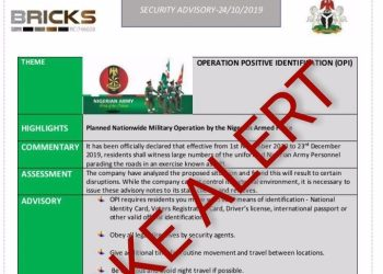 """Here's Why The House is Delaying Army's Planned Nationwide """"Operation Positive Identification"""" Exercise"""